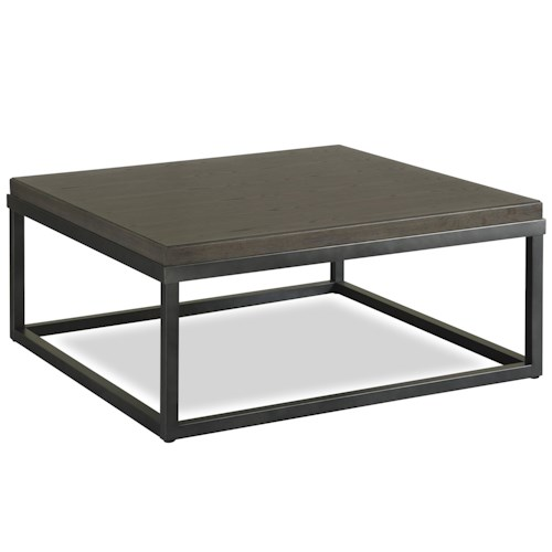 Universal Great Rooms - Berkeley 3 Square Cocktail Table with Metal Frame