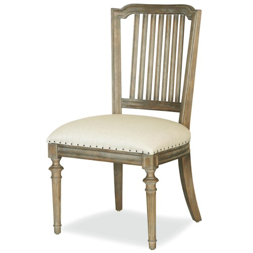 Universal Great Rooms - Berkeley 3 Cafe Dining Side Chair with Nailhead Trim
