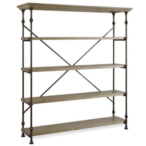 Universal Curated Great Rooms Rack with 4 Shelves