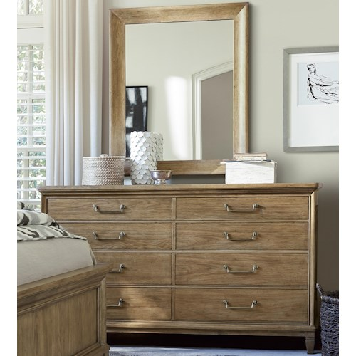 Morris Home Furnishings Moderne Muse 8-Drawer Dresser and Mirror Set