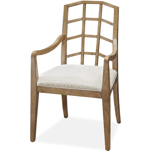 Universal Moderne Muse Arm Chair with Lattice Back