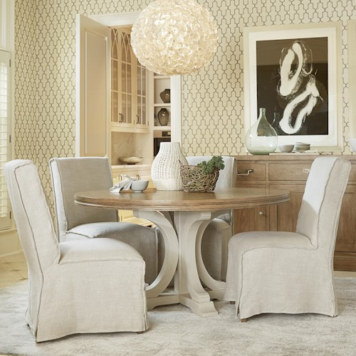 Universal Moderne Muse 5 Piece Dining Set with Parisian Side Chairs