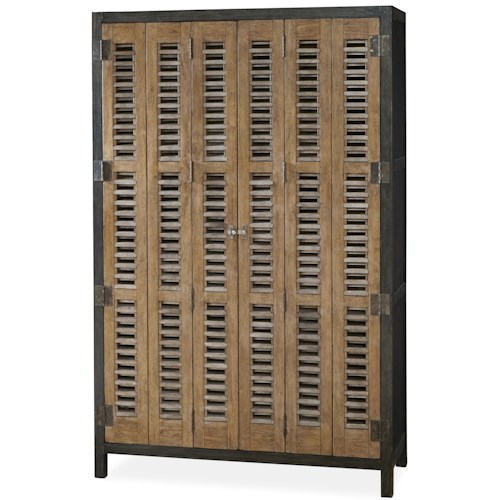 Universal Moderne Muse Libations Locker with Tri-Fold Doors