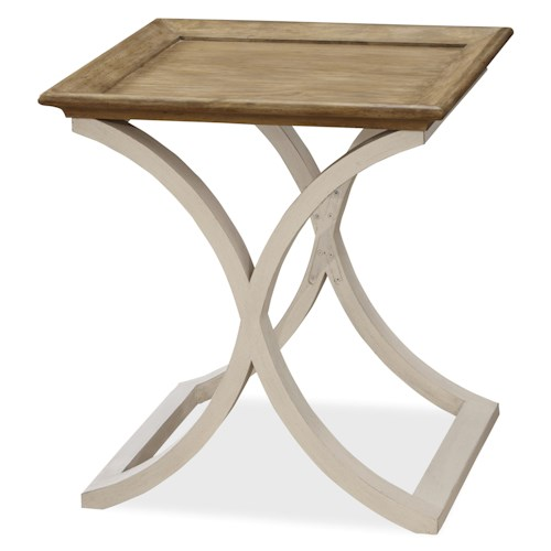 Morris Home Furnishings Moderne Muse End Table with Shaped X Base