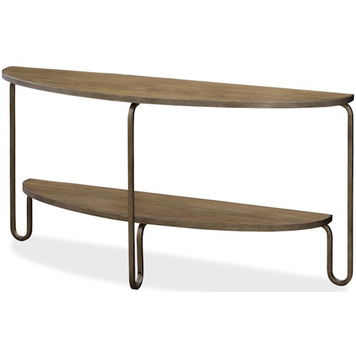 Morris Home Furnishings Moderne Muse Demilune Console Table with Shelf