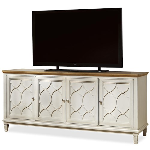 Morris Home Furnishings Moderne Muse Entertainment Console with 4 Doors
