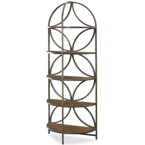 Universal New Bohemian The Artsy Etagere with Metal Frame