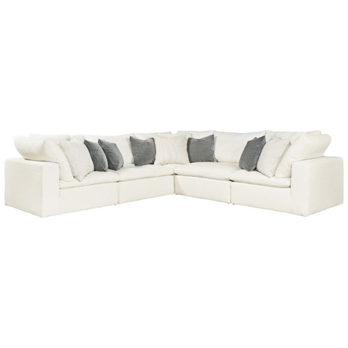 Universal Palmer 5 Piece Sectional with Thick Track Arms