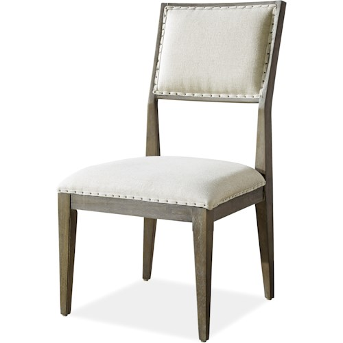 Morris Home Furnishings Platinum Dining Side Chair with Upholstered Seat and Back