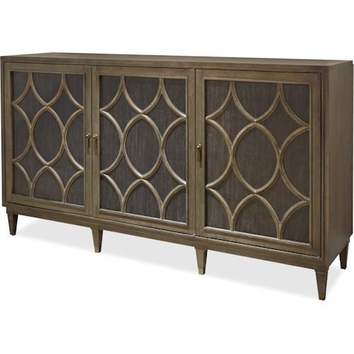 Morris Home Furnishings Platinum Sideboard with Vertical Platter Storage