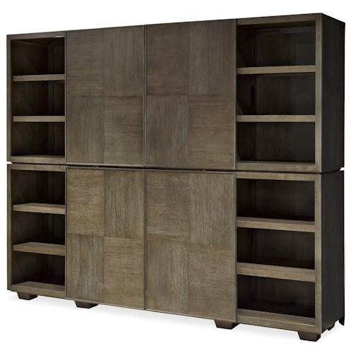 Universal Playlist Stacked Media Unit with Sliding Doors