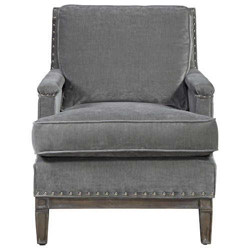 Morris Home Furnishings Prescott Upholstered Chair with Nailhead Trim