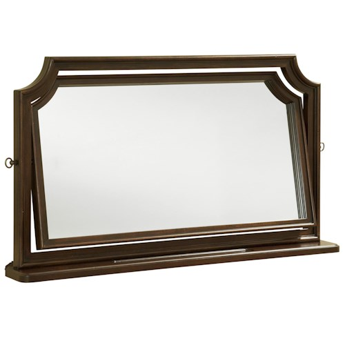 Morris Home Furnishings Providence Tilt Dressing Mirror with Coin Tray