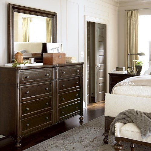 Universal Proximity 9 Drawer Dresser and Landscape Mirror Set