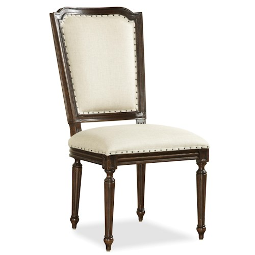 Morris Home Furnishings Providence Cane-Back Side Chair with Fluted Legs