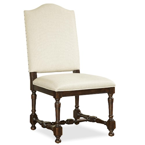 Morris Home Furnishings Providence Side Chair with Turned Legs