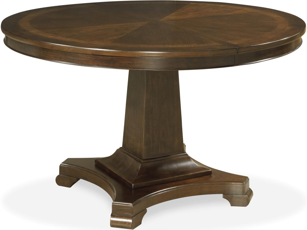Set Includes Round Pedestal Table