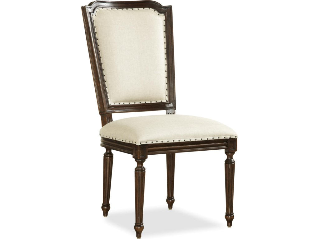 Set Includes Upholstered Side Chair with Woven Cane Back