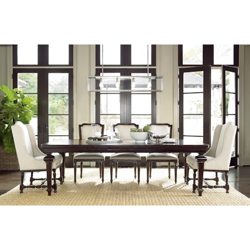 Morris Home Furnishings Providence 5-Piece Dining Set includes Table and 4 Side Chairs