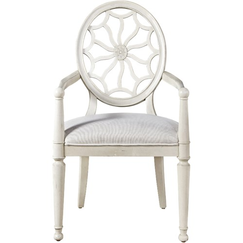 Morris Home Furnishings Sojourn Arm Chair with Decorative Back
