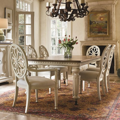 Morris Home Furnishings Sojourn 7 Piece Dining Set with Gathering Table