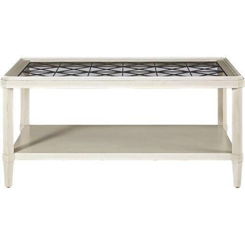 Universal Sojourn Cocktail Table with Metal Grill