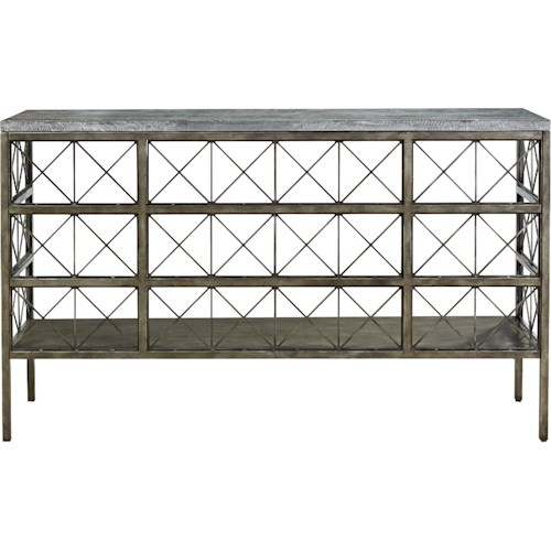 Morris Home Furnishings Sojourn Console Table with Bluestone Top