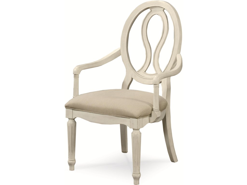 Pierce Back Arm Chair