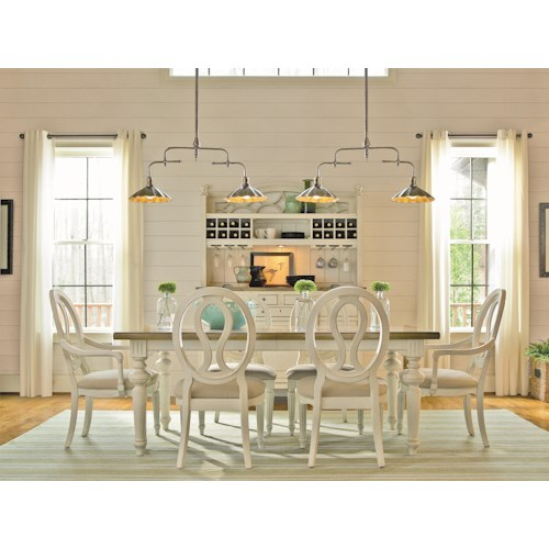 Morris Home Furnishings Summer Shade 7 Piece Table and Chair Set