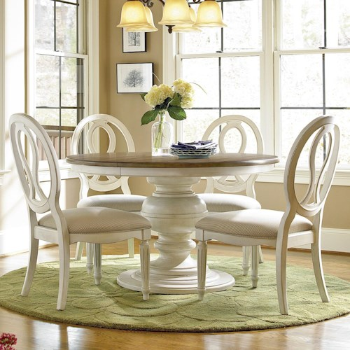 Universal Summer Hill 5 Piece Dining Set with Pierced Back Chairs