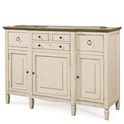 Morris Home Furnishings Summer Shade Serving Buffet with Storage