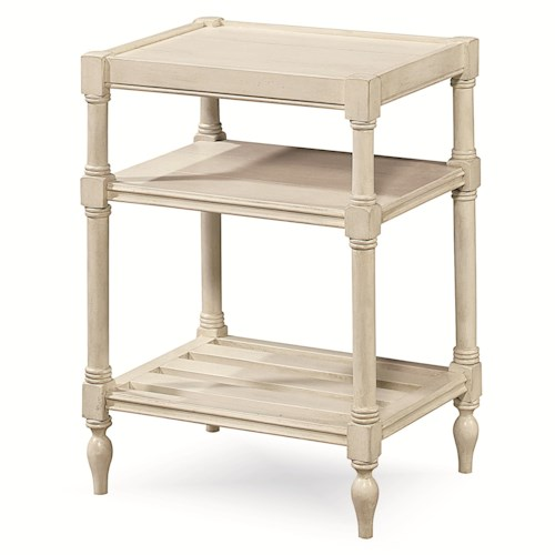 Universal Summer Hill Chair side Table with 2 Shelves