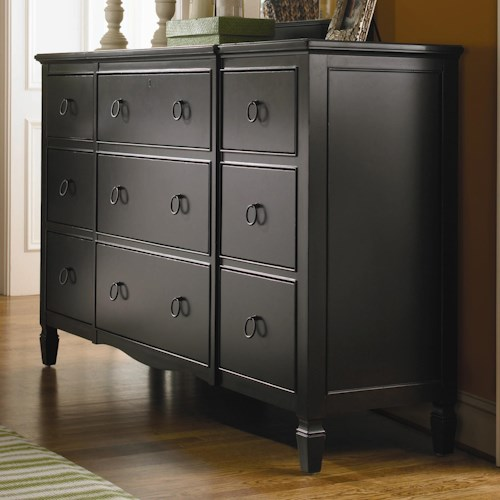 Universal Summer Hill 9 Drawer Dresser with Break front