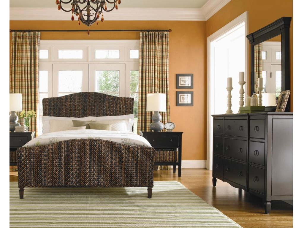 Dresser in Room Setting with Basket Weave Bed