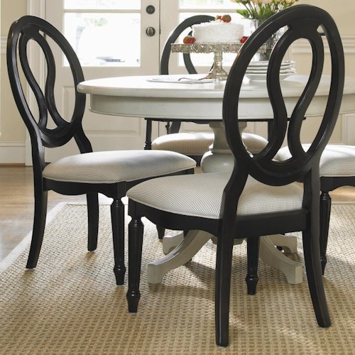 Universal Summer Hill Upholstered Seat, Pierced Back Side Chair