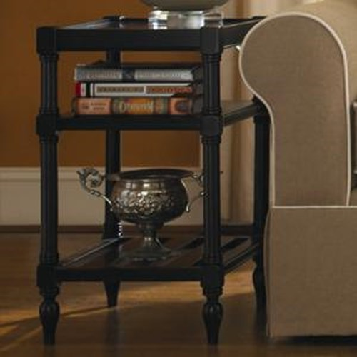 Morris Home Furnishings Summer Shade Chair side Table with 2 Shelves