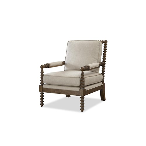 Morris Home Furnishings Sundance Spool Turned Arm and Leg Accent Chair