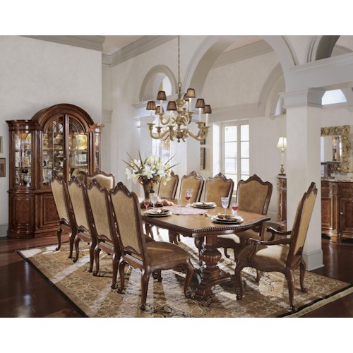 Universal Villa Cortina Formal Dining Room Group