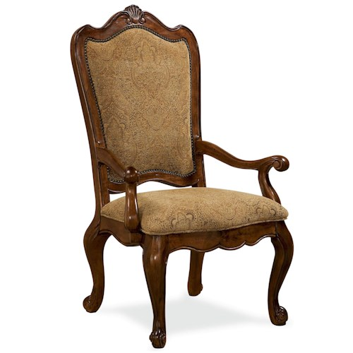 Morris Home Furnishings Camden Upholstered Back Arm Chair