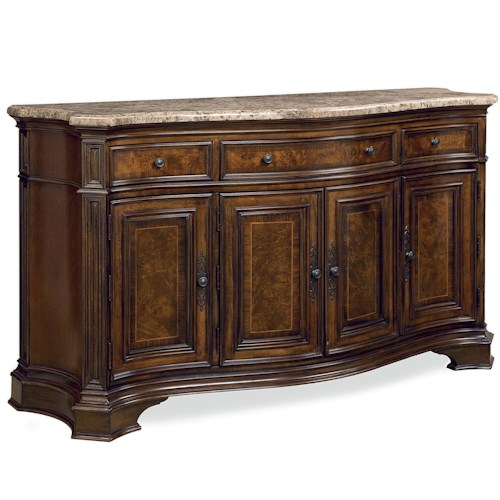 Morris Home Furnishings Camden Storage Credenza with Marble Top