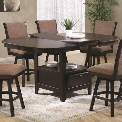 U.S. Furniture Inc 2241/2242 Pub Height Dining Table with Butterfly Leaf