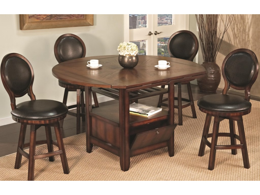 Shown with Round Back Swivel Stool Side Chair