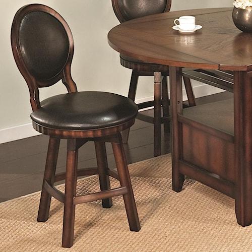U.S. Furniture Inc 2251/2252 Round Back Swivel Stool Base Dining Side Chair
