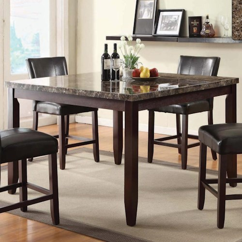 U.S. Furniture Inc 2720 Dinette Transitional Counter Height 54