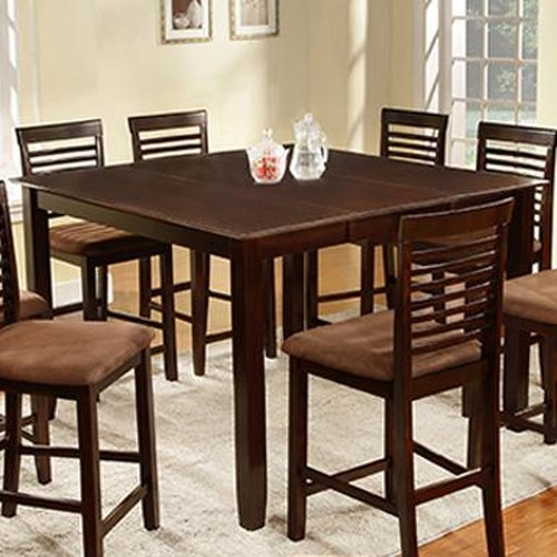 U.S. Furniture Inc 2744 Dinette Counter Height Table w/ Extension Leaf