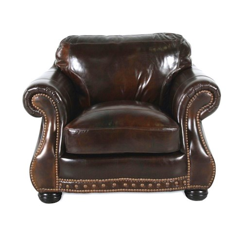 USA Premium Leather 8755 Chesterfield Leather Chair