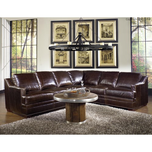 USA Premium Leather 9355 Sectional Sofa In 100% Leather