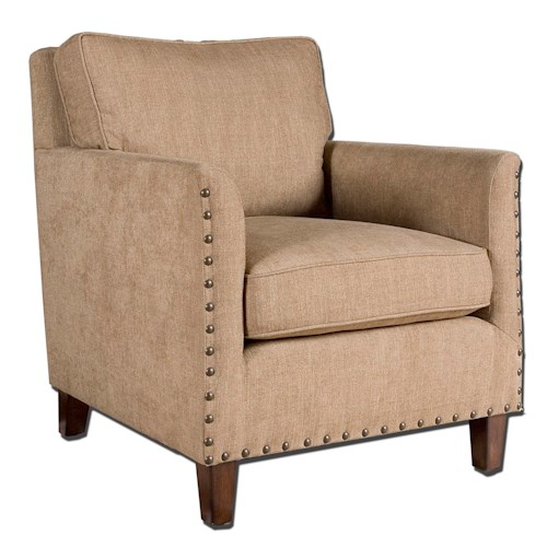Uttermost Accent Furniture Keturah Vintage Styled Armchair