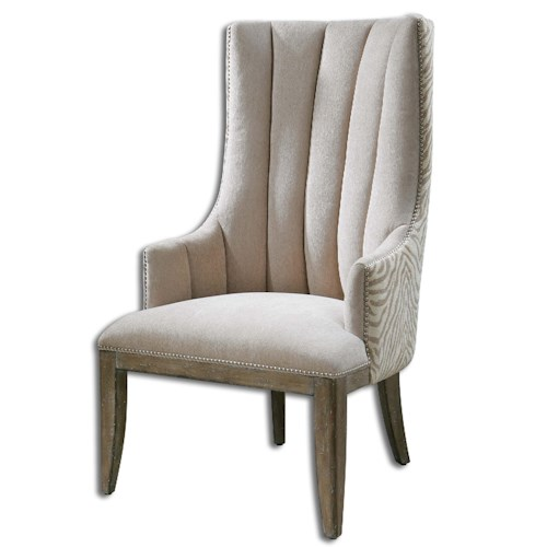 Uttermost Accent Furniture Zyla Chenille ArmChair