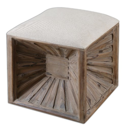 Uttermost Accent Furniture Jia Wooden Ottoman
